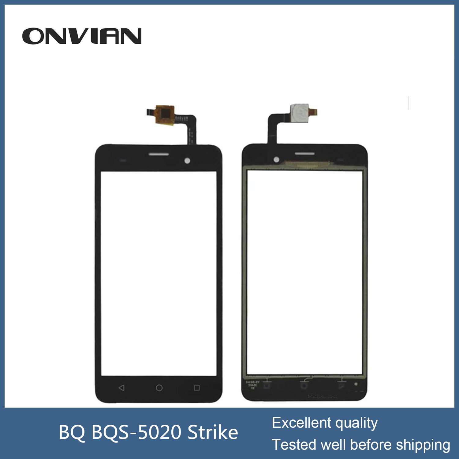 BQ BQS-5020 Strike Touch Screen Digitizer Glass Replacement new 5.0 Touch Screen Original New For BQS-5020 Black