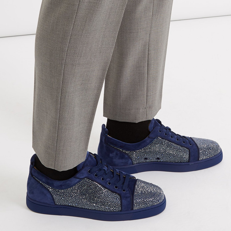 Nouveau Design Hommes Strass Chaussures Low Top Dentelle-up Sneaker Bout Rond Bling Glitter Sapatos Hommes Casual Chaussures Plus taille EU39-47