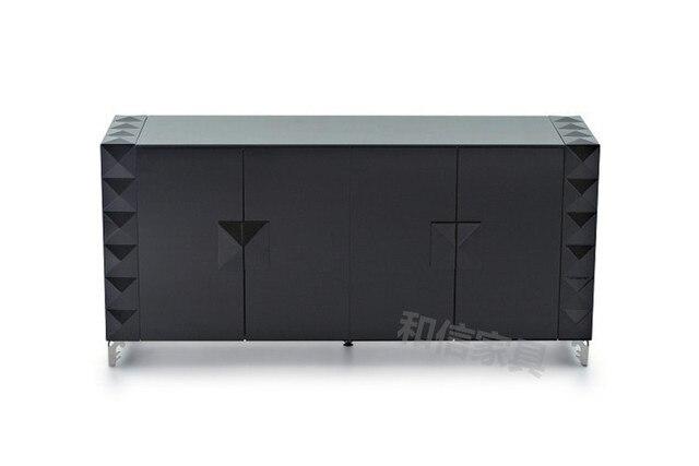 Ikea Kast Metaal : Moderne minimalistische zwarte pianolak metalen oppervlak dressoir