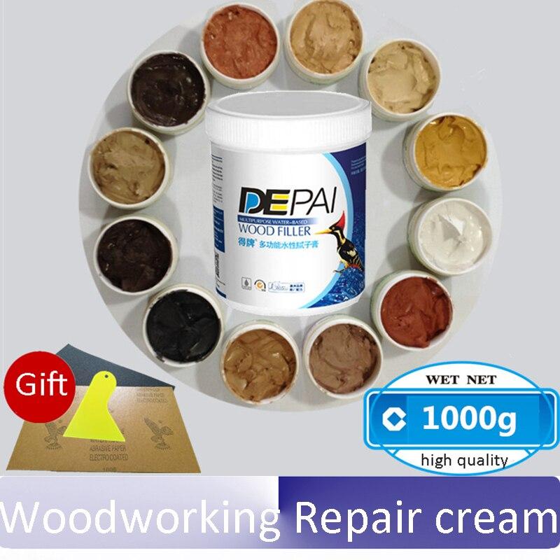 1KG wood crack repair Wood Putty wood repair Putty Woodworking Repair cream Furniture paint putty wood wax wood furniture repair pack care packages