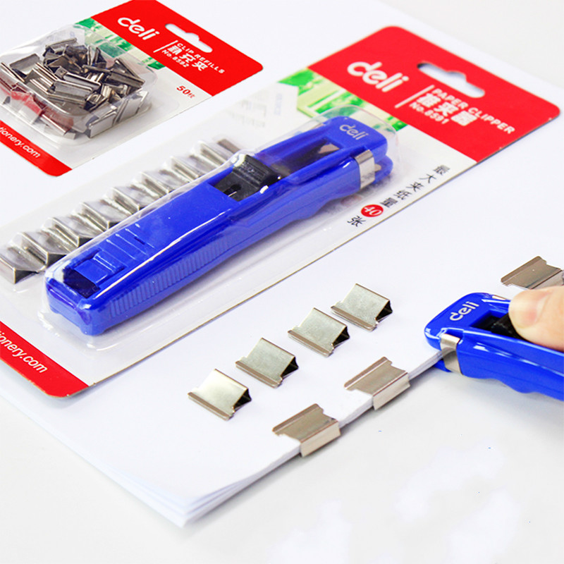 Effective Office Push-pull Folder Metal Supplement Folder Deli 8591 Spare File Clip Bookbinding Device Office Accessories Clips