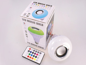 Image 4 - Bluetooth スピーカースマート Led 電球 E27 12 ワット音楽再生で調光可能な無線 Led ランプカラフルな RGB 24 キーリモート制御