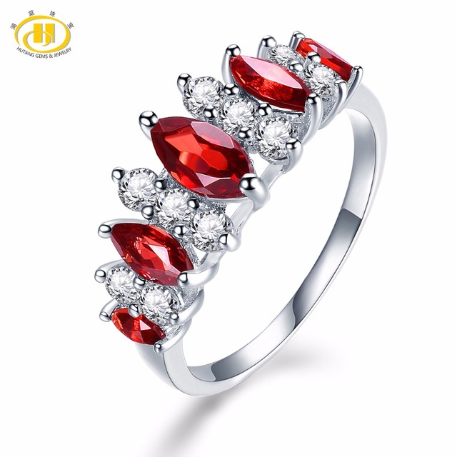 Fine Jewelry Womens Red Garnet Sterling Silver Solitaire Ring z9L22S