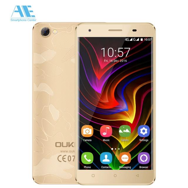 Оригинальный Oukitel C5 Pro 4 г смартфон MTK6737 4 ядра Android 6.0 2 г Оперативная память 16 г Встроенная память 5.0 дюймов 1280x720 разблокировать Мобильные телефоны