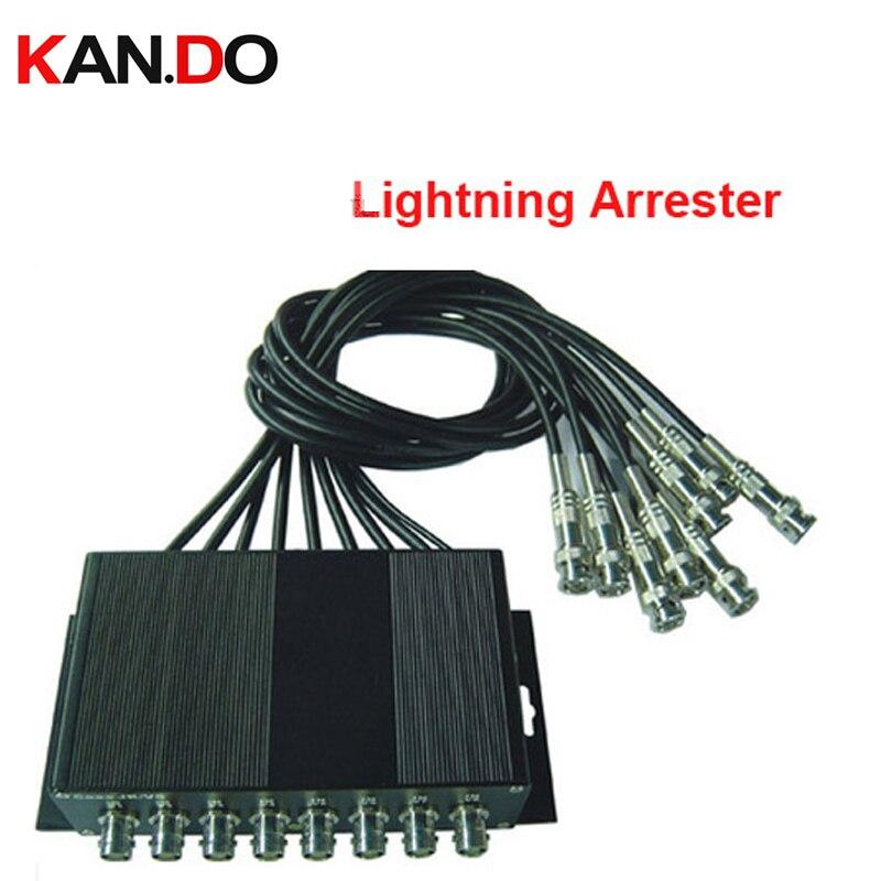 8 Ch CCTV BNC Lightning Arrester Surge Protector Device (CoaxJK/ V8) Lightning protector device CCTV accessory CCTV protector