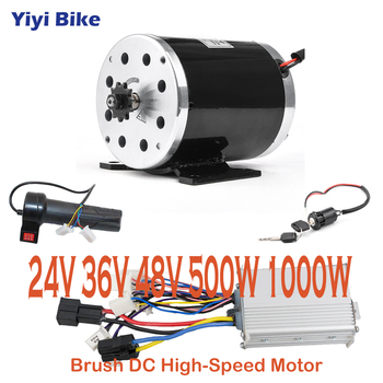 Kit de conversión de Motor cepillado para bicicleta eléctrica, controlador de Motor...