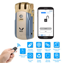 WAFU 010U 433MHz Keyless Invisible Electronic Door Lock With Remote Control Open & Close Smart Lock iOS Android APP Unlocking 12 volt luggage single open metal two key 433mhz remote control switch accessaries for electronic control lock