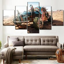 Decor Living Room Or Bedroom Framework 5 Pieces Mad Max Fury Road Game Paintings On Canvas Printing Type Poster Wall Art Picture(China)