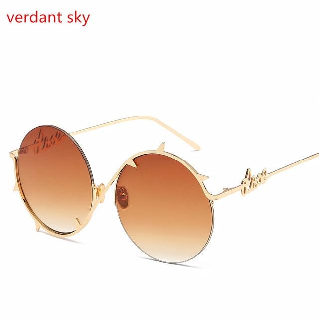 ba8e2c9b99 2017 New Brand Designer Classic Polarized Round Sunglasses Men Vintage John  Lennon Glasses Women Driving Metal Eyewear box