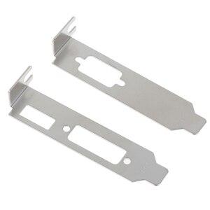 Image 2 - 2 개/대 로우 프로파일 브래킷 어댑터 HDMI DVI 포트 하프 높이 그래픽 비디오 카드 세트