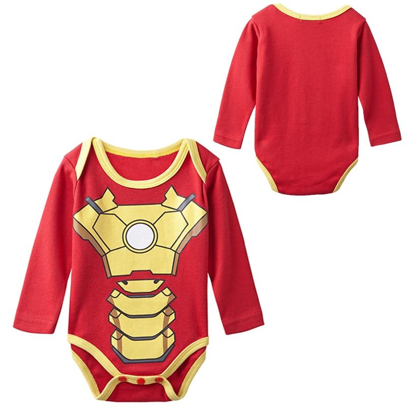 Newborn Baby Boy Iron Man Costume Bodysuit Infant Party Avengers