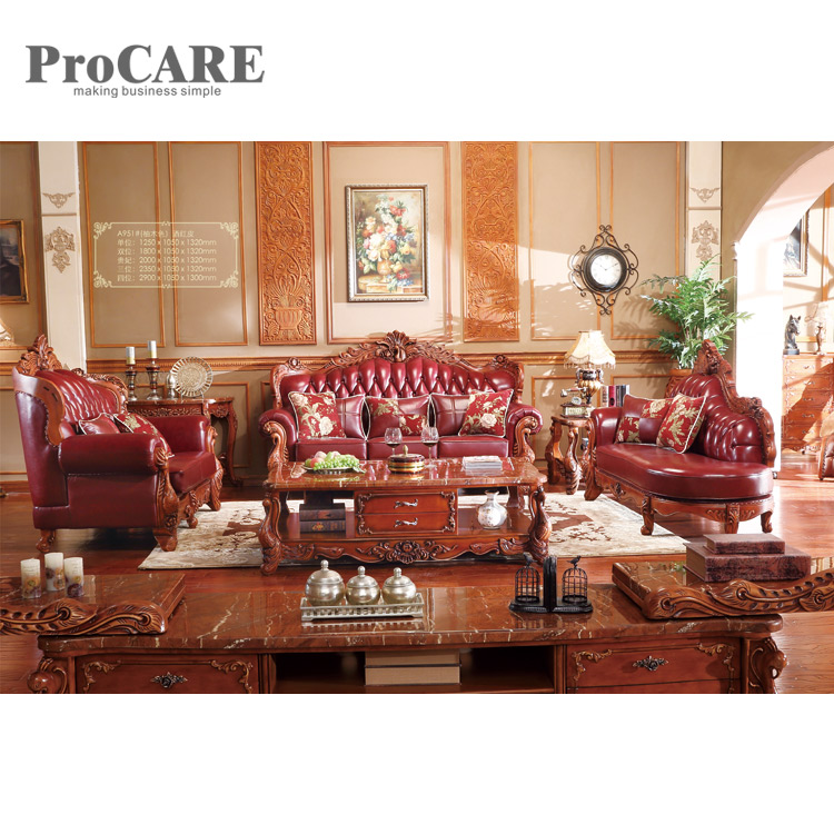 US $4099.0 |wood sofa set design for living room / living room furniture  design A951B-in Living Room Sofas from Furniture on Aliexpress.com |  Alibaba ...