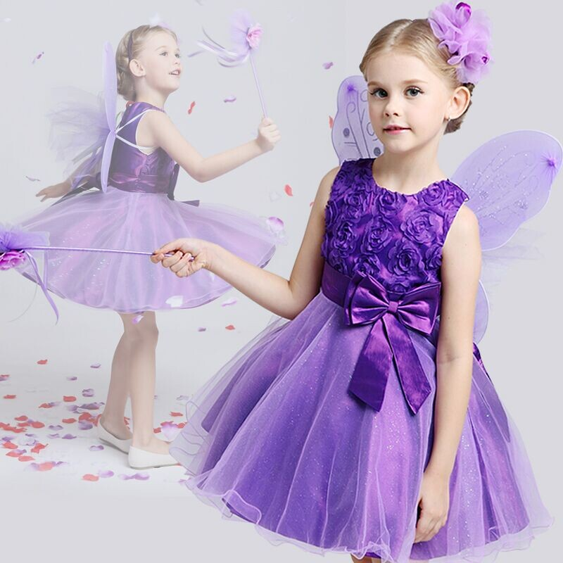 Flower Kids Dresses for Girls Bridesmaid Wedding Princess Embroidery Gown Infant Baby Christening Clothing Girls Christmas Dress d sub connectors db25 25pin female adapter board rs232 serial to terminal signal module