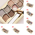 Professional Makeup 12 Colors Eyeshadow Palette Smoky Cosmetics Palette Diamond Bright Glitter Eye Shadow