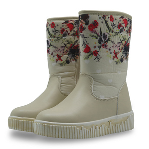 Image 5 - Apakowa Girls Winter Boots Mid Calf Warm Plush Childrens Shoes for Cold Winter Flat Solid Snow Boots with Zip Eur 29 32