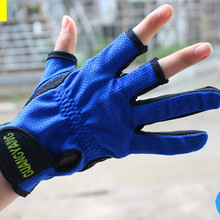 1 Pair Fishing Gloves Half Finger Skidproof Resistant Cycling Fishing Anti Slip Tool Fishing Accessories Hunting