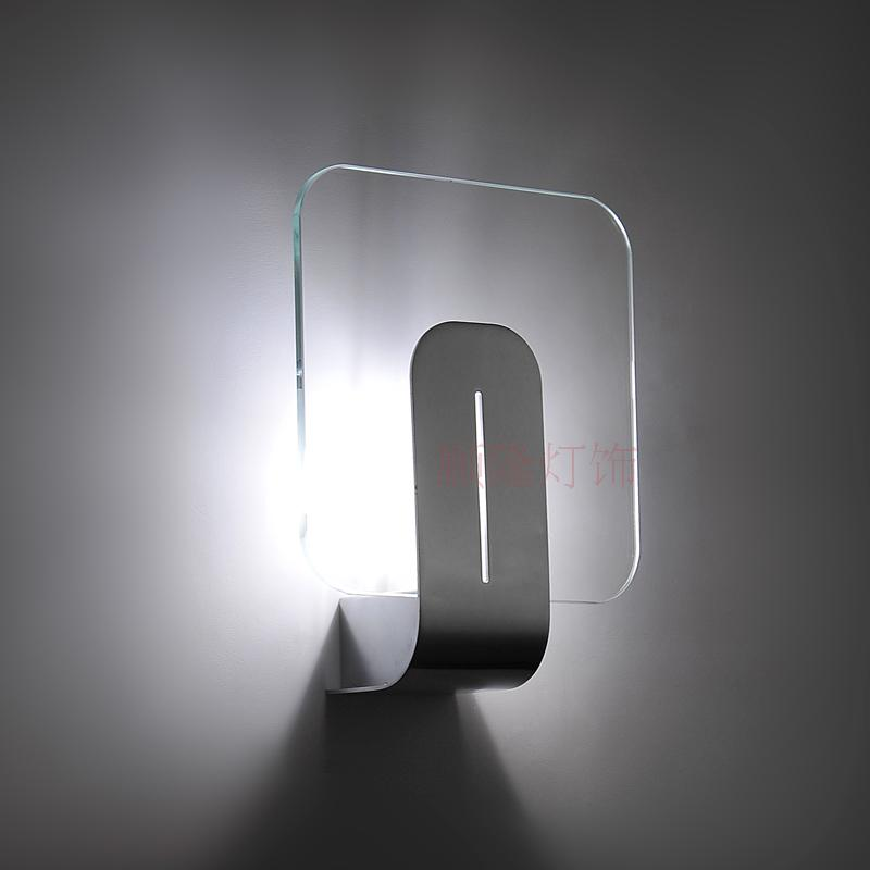 Modern LED glass WALL lamp room corridor balcony stairs bedroom bedside lamp lights lighing wall light ZA918613 modern minimalist acrylic wall lamps smd led creative circle wall lights bedroom bedside lighting corridor balcony stairs lamp