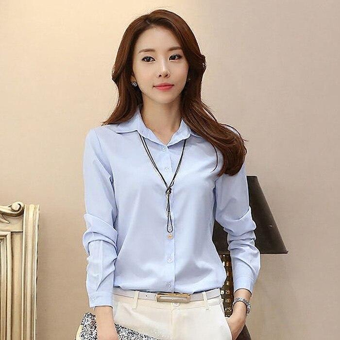2019 neue Casual Weiß Frauen Chiffon Bluse Damen Solide Elegante Blusen Langarm OL Büro Shirts Plus Größe 3XL Tops