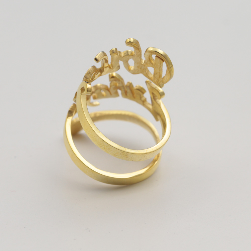 Wholesale Golden Name Ring Spiral Custom 2 Nameplate Snake 925 Silver Personalized Hip Hop Jewelryin Rings From Jewelry Accessories On: Golden Wedding Rings Names At Websimilar.org