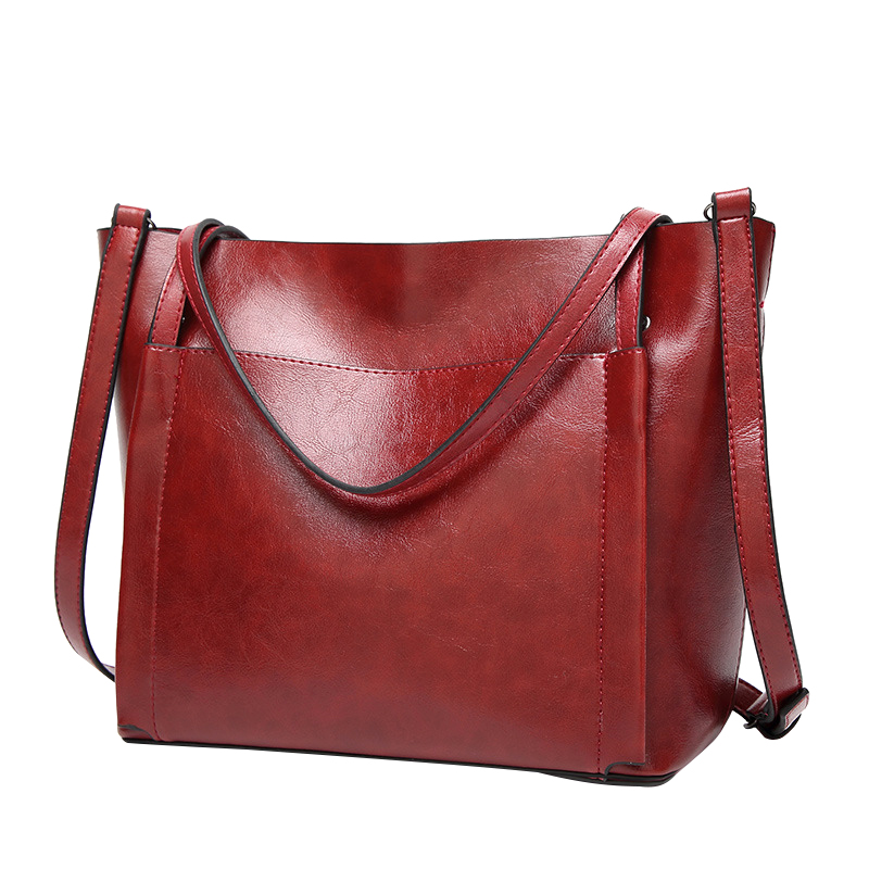 New Solid PU Leather Women Handbag Single Shoulder Bag Big Ladies Tote Bags Crossbody Messenger Bags Feminino Bolsas