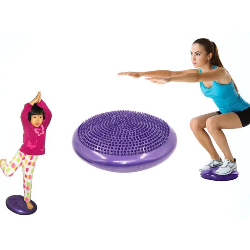 PVC Inflatable Yoga Massage Ball Fitness Yoga Balancing Ball Pad Training Cushion Stability Exercise Point Massage Mat Ball