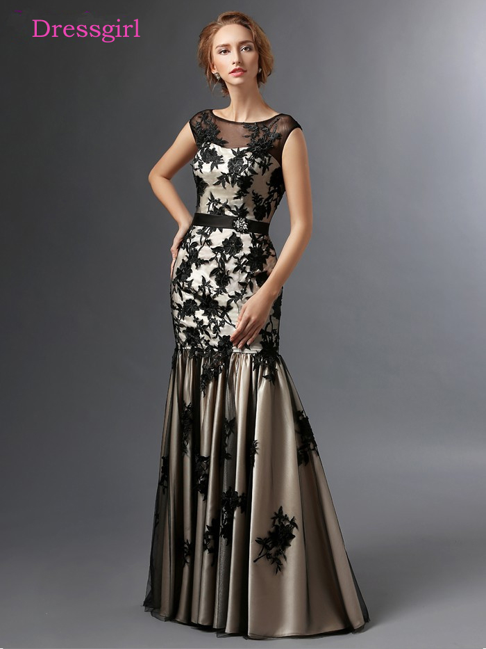Black 2019 Mother Of The Bride Dresses Mermaid Cap Sleeves Tulle Appliques Plus Size Long Elegant Groom Mother Dresses Wedding