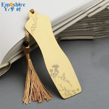 Top Quality Classical Brand Brass Bookmark Cheongsam Bookmark Chinese Style Metal Bookmark Creative Custom Lettering Gift M108 фото