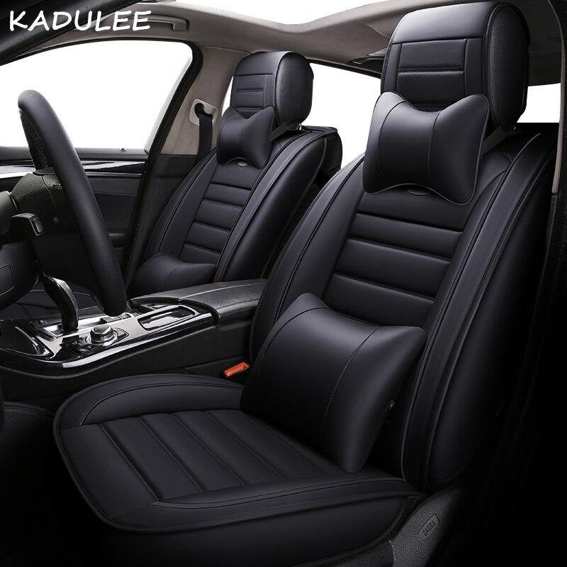 KADULEE pu leather car seat covers for dodge caliber caravan journey nitro ram 1500 intrepid stratus