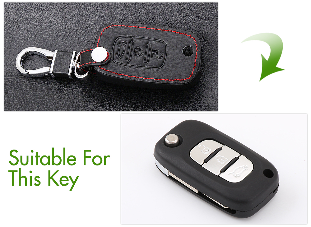 Image 2 - Car folding key Leather Case for LADA Sedan Largus Kalina Granta Vesta X Ray XRay Remote Key Fob Cover Protect Set-in Key Case for Car from Automobiles & Motorcycles