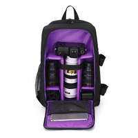 Waterproof DSLR Camera Bag Functional Camera Backpack Rain Cover SLR Tripod Case for Photographer Canon Camera Bag