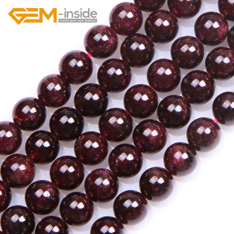 2MM-15MM Natural Garnet Stone Dark Red Garnet Round Beads Loose Beads For Jewelry Making Bead Strand 15 Inches Whlolesale! bead roller for jewelry making perfect polymer clay beads rectangle transparent 10 2x6 4x1 9cm 2 sets b23360 yiwu