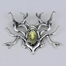 Lord of The Elves King Thranduil spider brooch pin vintage Mirkwood Rhinestone brooches for men women gift