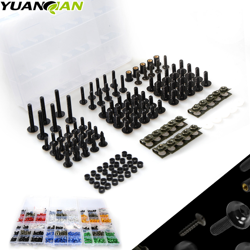 Universal CNC Motorcycle Fairing Body Work Bolts Spire Speed Fastener Clips Screws Nuts for aprilia ducati honda hyosung ktm