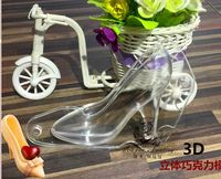 Free Shipping Three Dimensional High Heeled Shoes Handmade Chocolate Mold High Quality PC Material