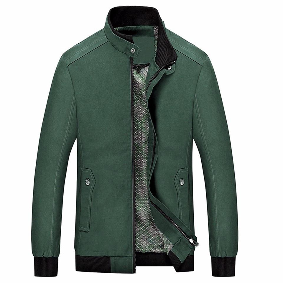 army Kaki Veste navy Hiver Casual red Zipper Blue Mâle Noir Green Hommes Mince Homme Outwear Black Vert Printemps Poches khaki Coton Rouge Rue Automne 100 Wear qEXx11