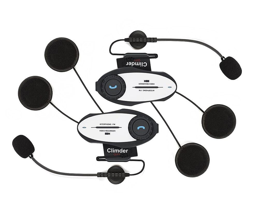 2016 updated 2 pcs video recorder multi motorcycle helmet bluetooth intercom. Black Bedroom Furniture Sets. Home Design Ideas