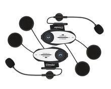 2016 Updated! 2 pcs Video Recorder Multi Motorcycle Helmet Bluetooth Intercom Headset 720P Sports Camera Interphone FM Radio