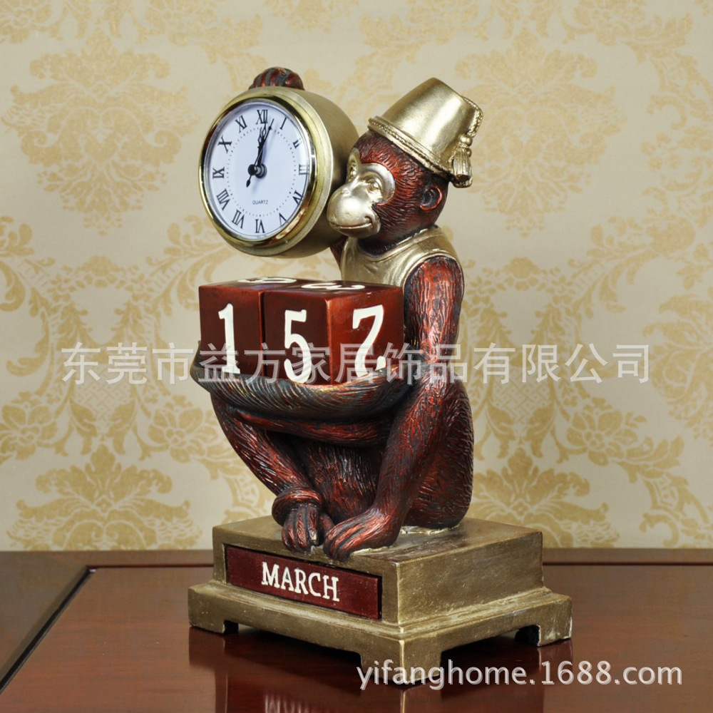 Awesome C Calendar Clock Ornaments Living Room Furniture Monkey Study Knick Knacks  Resin Crafts In Underwear From Mother U0026 Kids On Aliexpress.com   Alibaba  Group