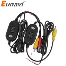 Eunavi 2 4 w G bezprzewodowy nadajnik i odbiornik dla samochodów tyłu widok z tyłu Backup kamery i monitora asystent parkowania pojazdu CAM tanie tanio wireless Z tworzywa sztucznego