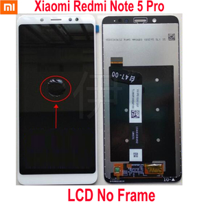 Image 2 - Original Best Xiaomi Redmi Note 5 Pro MEG7S LCD Display 10 Point Touch Screen Digitizer Assembly with Frame Hongmi Note5 Sensor