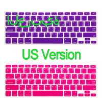 Arabic US Version Silicone Rainbow Keyboard Film Cover For Apple Macbook Air Pro Retina 13 15