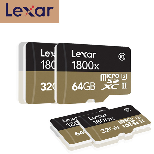 Lexar Micro SD Card 1800x microsd 64GB 32GB 270MB/s sdxc U3 cartao de memoria Class 10 Memory Flash TF Card for smartphone