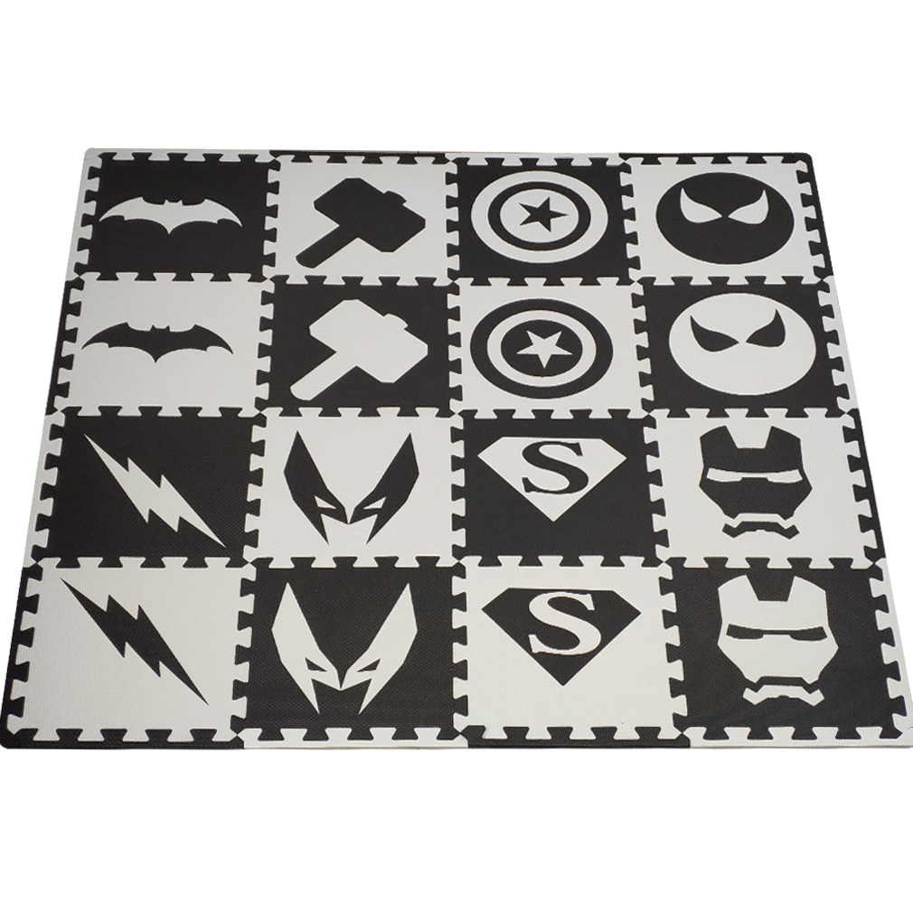 16pc/set Baby Play Mat,EVA Foam Rug For Kids,Soft Interlocking Tiles,Children Room Floor Carpet Each: 32x32cm Free Edge