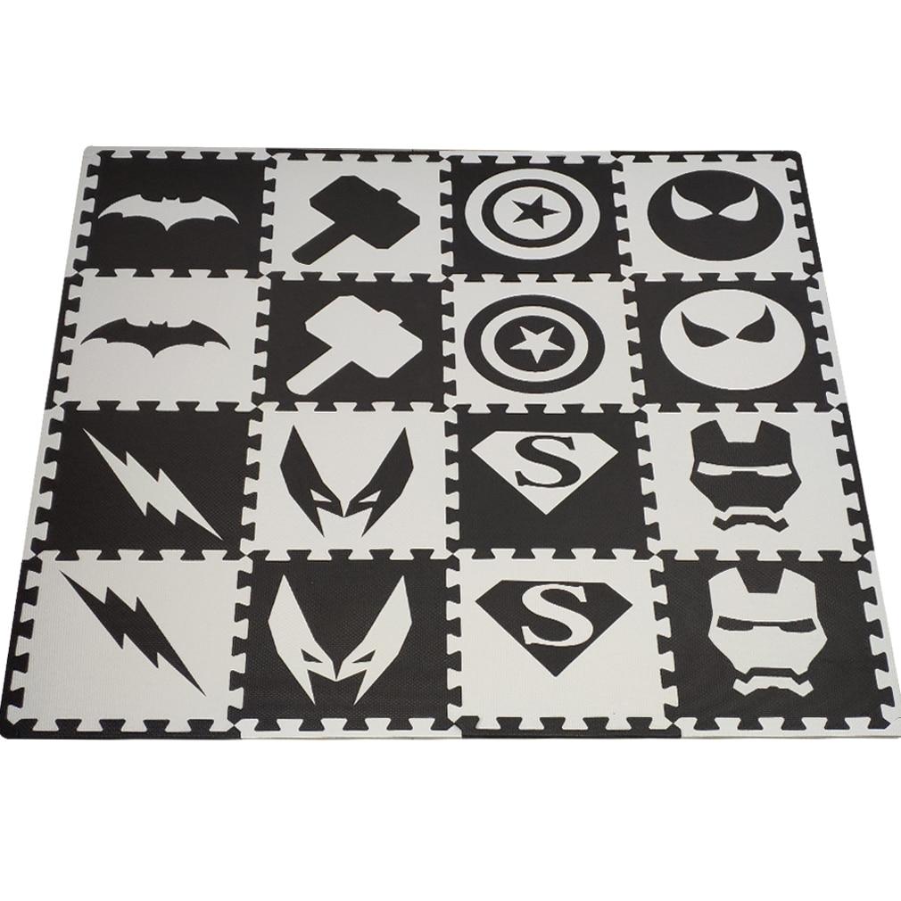 16pc/set Baby Play Mat,EVA Foam Rug For Kids,Soft Interlocking Tiles,Children Room Floor Carpet Each: 32x32cm Free Edge