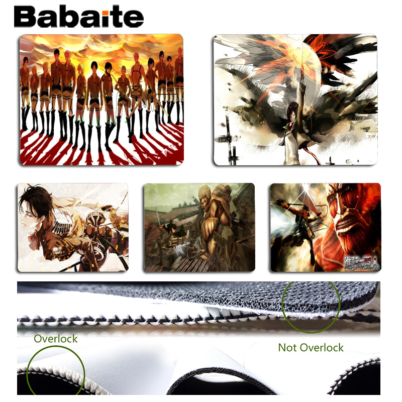 Babaite My Favorite Attack on Titan mouse pad gamer play mats Size for 18x22cm 25x29cm Rubber Mousemats ...