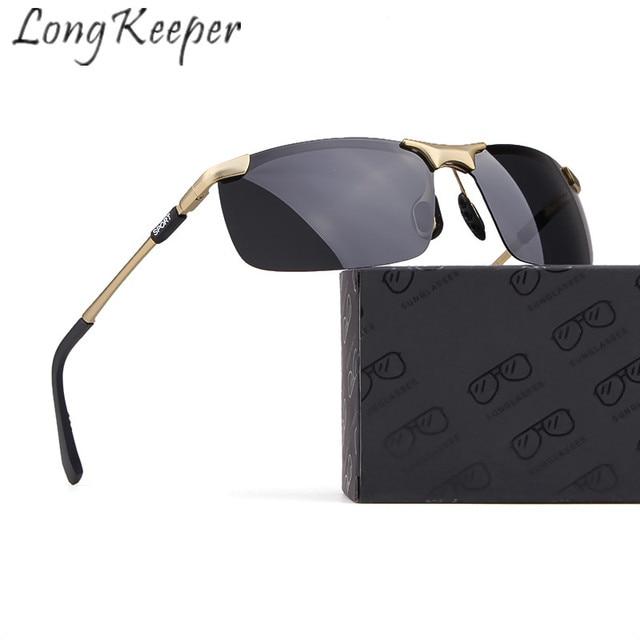 11e972539c Long Keeper Sunglasses Polarized Men Women Sun Glasses Classic Retro Square Metal  Frame UV400 HD Lens Eyeglasses Eyewear Fashion