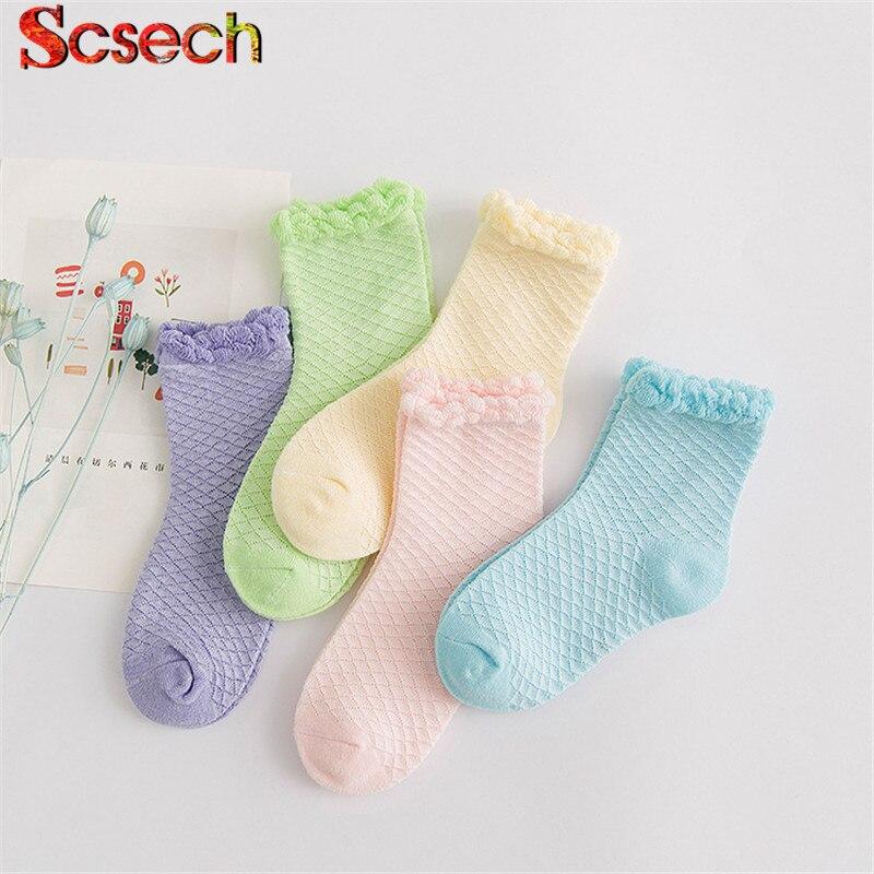 10 Teile/los = 5 Pairs Neue Mode Baby Mädchen Socken Set Candy Farbe Baumwolle Infant Kleinkind Kinder Socke Für 0-7y Skw13 Billiger Preis