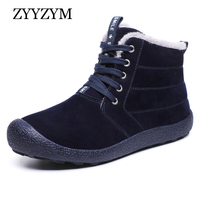 ZYYZYM Men Snow Boots Winter Plush Keep Warm Men Boots Fashion Outdoor Cotton Shoes Men's Winter Shoes Large Size EUR 39 48