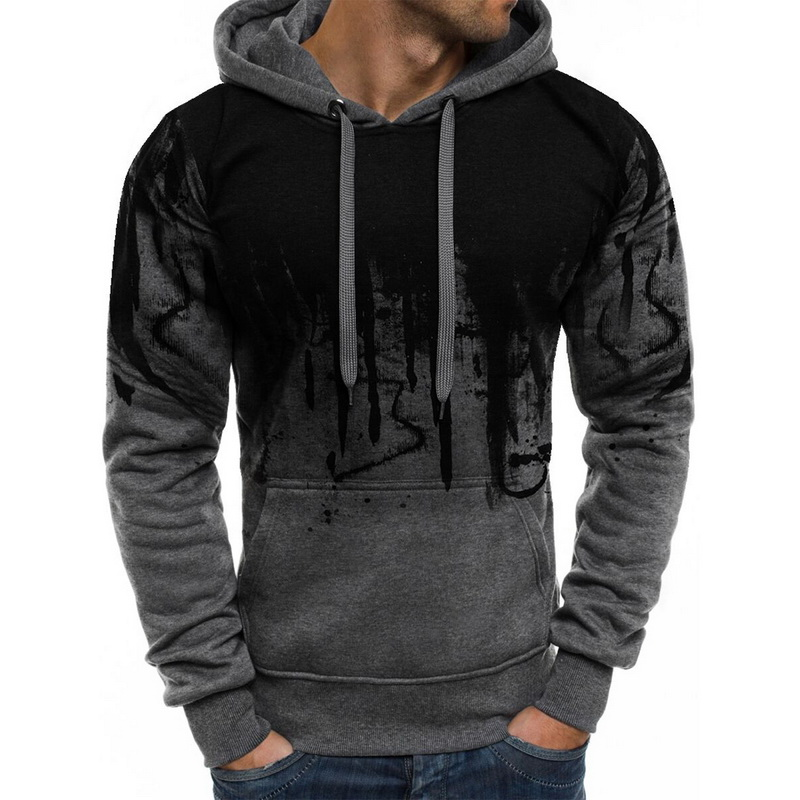 CYSINCOS 2019 Autumn Camouflage Print Hoodies Men Streetwear Tracksuit Hooded Sweatshirts Casual Hoodie Pullover Drop Shipping
