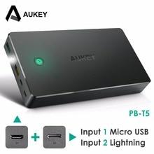 Aukey 20000 мАч Мощность Bank внешняя Батарея Dual USB Мощность банк Quick Charge 2.0 Портативный Зарядное устройство мобильная зарядка для смартфонов